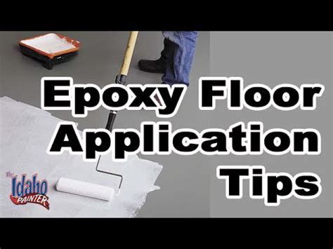 Applying Epoxy to Concrete Garage Floor How To Epoxy A