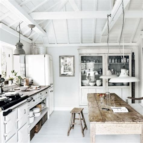 rustic chic kitchen white interiors amanda s shabby chic White
