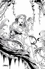 Ivy Coloring Poison Coloriage Lego Dc Fabelwesen Adult Colouring Comics Ausmalbilder Colorear Marvel Deviantart Inked Buch Wenn Mal Line Books sketch template