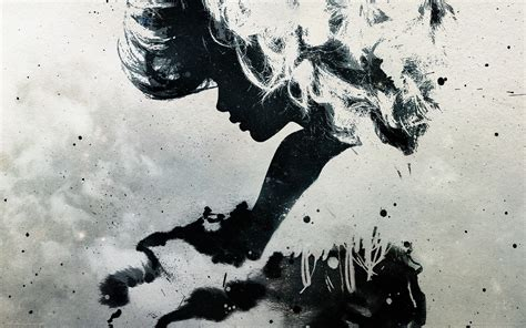 Abstract Faces Black And White by Abstract Black And White Minimalistic Artwork Faces