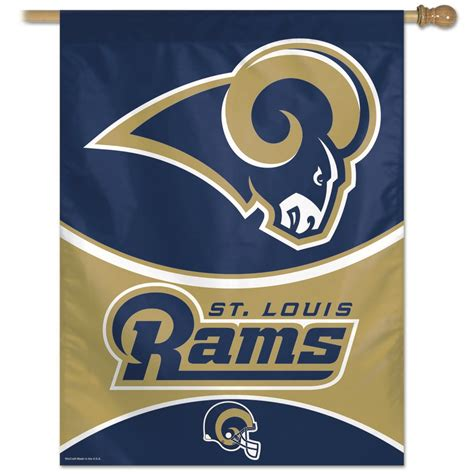 Saint Louis Rams St Vertical Outdoor House Flag Ebay