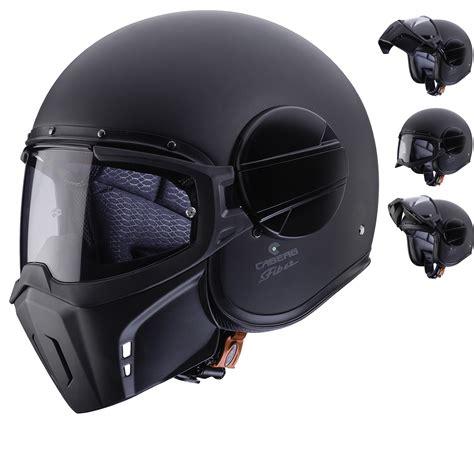 caberg ghost matt black open face motorcycle helmet open