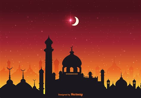 arabian nights vector background   vectors