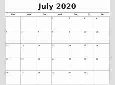 April 2020 Printable Calendars
