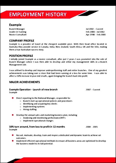 Resume Templates Australia 2016 by Chef Resume Sle Australia Sle Templates