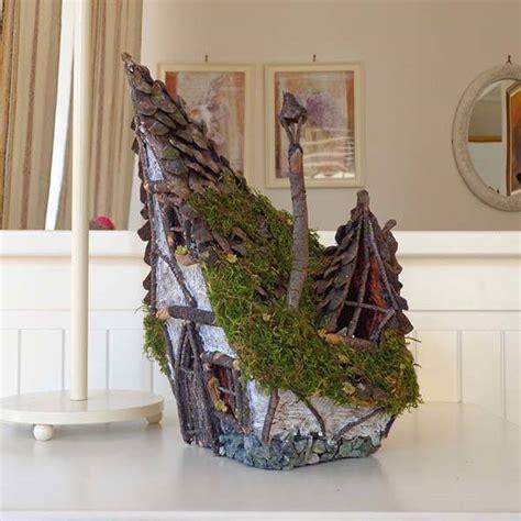 handmade rustic wooden fairy house candle holder gadgetsin
