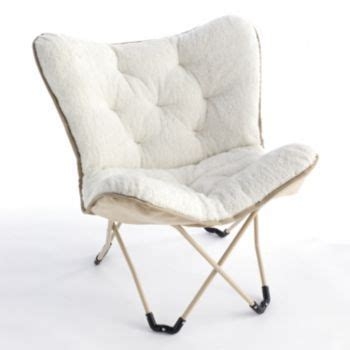 simple by design sherpa memory foam butterfly chair sale