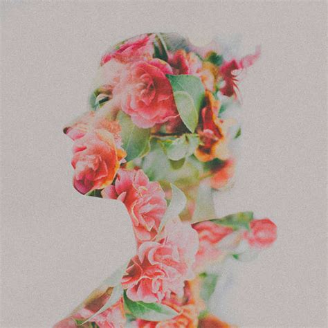 multiple exposure floral photography double exposure