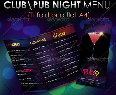 nachtklub bar getraenkekarte cocktailkarte