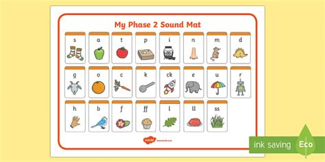Phase 2 Sound Mat  Sound Mat, Letters And Sounds, Dfes Letters