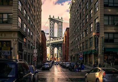 Street Building Bridge York Brooklyn Urban Usa
