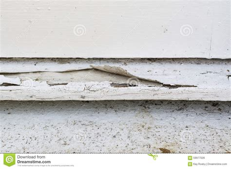 Wooden Window Sill Exterior by Paint Peeling Exterior Wooden Window Sill Stock Photo