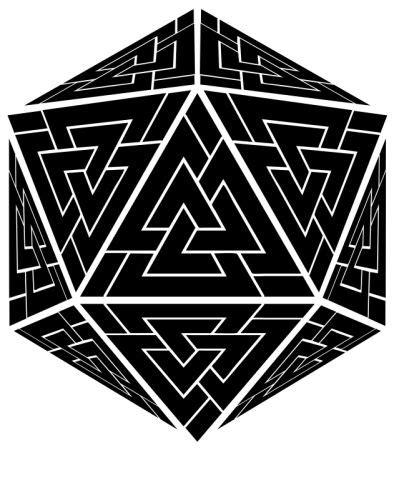 d20 Viking Valknut Odin by 88riddles | Celtic knot tattoo, Viking tattoos, Nordic tattoo