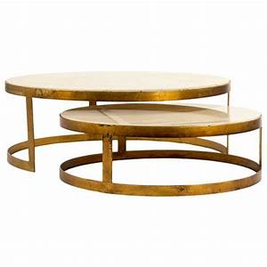 portia global ivory stone gold nest round coffee tables With round marble and gold coffee table
