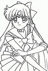 Coloring Sailor Saturn Moon sketch template