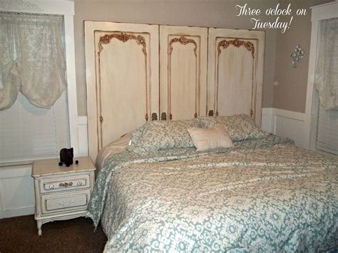 shabby chic headboard three o clock on tuesday sold stunnig 3 door shabby chic