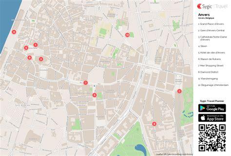 Carte De Touristique à Imprimer by Anvers Carte Touristique Imprimable Sygic Travel