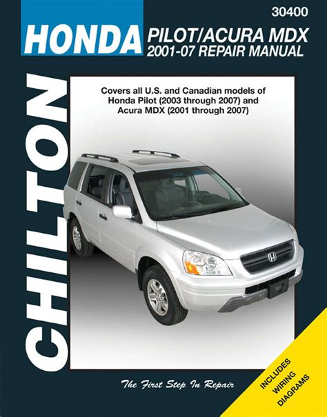 chilton car manuals free download 2003 honda civic electronic toll collection chilton 30400 service shop repair manual honda pilot 2003 07 acura mdx 2001 07 ebay