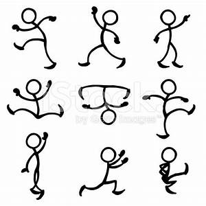 Stick Figure People Dance