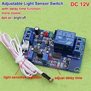 Dc 12v Adjustable Light Sensor Switch Photoresistor Delay