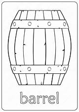 Barrel Coloring Outline Wooden Drawing Pdf Printable Coloringoo sketch template