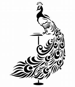 Veldeco Peacock Wall Stickers - Black - Buy Veldeco