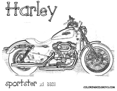 Kleurplaat Harley Davidson by Harley Davidson Coloring Pages To And Print For Free