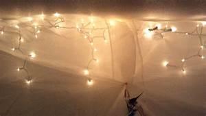 Christmas Window Decorating Twinkle Lights In Bedroom