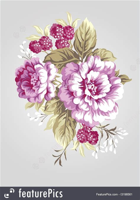 illustration  hand drawing peony bouquet