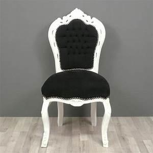 Chaise Baroque Noir : chaise baroque noir et blanc ~ Teatrodelosmanantiales.com Idées de Décoration