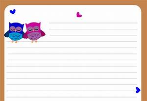 owl writing paper With letter writing stationary