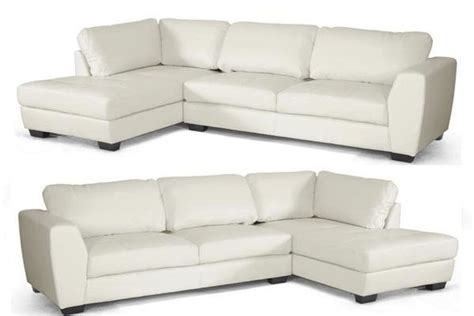 White Leather Sofa Ebay by White Bonded Leather Modern Sectional Left Or Right