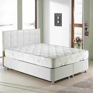 Lit Coffre Blanc : deco in paris lit coffre blanc 140 x 190 cm stecy stecy 140 blanc ~ Teatrodelosmanantiales.com Idées de Décoration