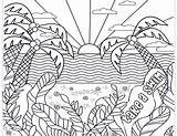 Pastimes Sunsets Inkhappi sketch template