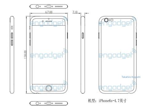 iphone 6s dimensions iphone 6s dimensions tipped in leaked schematic