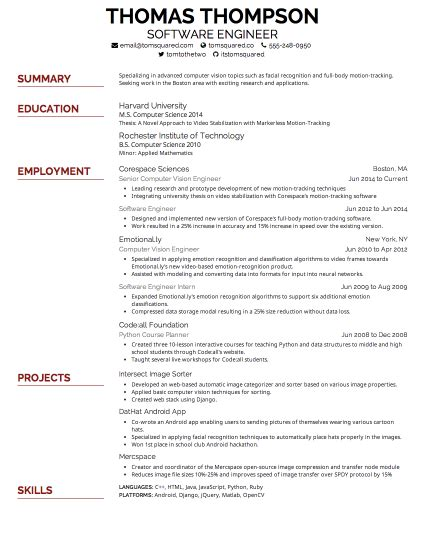 Font Not To Use For Resume by Creddle