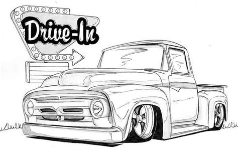 ford  nathan miller vehicle  drawings lowrider drawings cars coloring pages