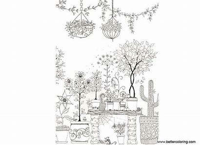 Coloring Garden Pages Japanese Printable Adults