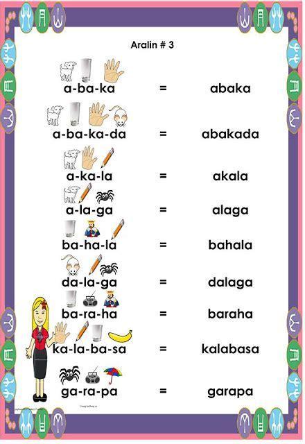 abakada book printable  english  filipino worksheets