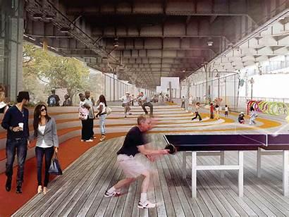Architect Visionary Architecture Wired Bridge Under Slide
