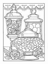 Coloring Dessert Pages Candy Adult Colouring Sheets Creative Designer Haven Desserts Printable Books Mandala Faerglaeggningssidor Coloriage Doodle Hard Para Dibujos sketch template