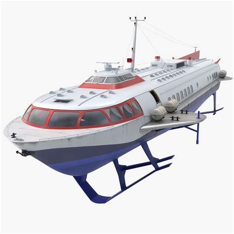 Hydrofoil For Boat by 3dsmax Passenger Hydrofoil Boat