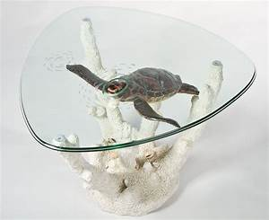 decor table With sea turtle coffee table