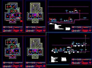 Plan Of Household Plumbing  U2013 Cold And Hot Water Dwg Plan For Autocad  U2013 Designs Cad