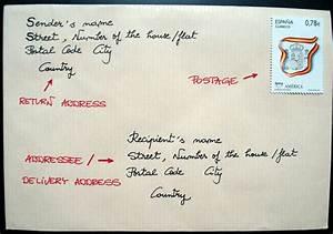 Where do i write address on envelope