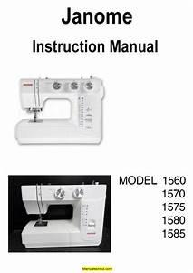 Janome 1560 Sewing Machine Instruction Manual