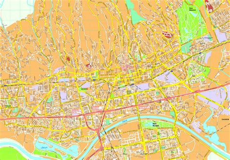 zagreb map vector maps