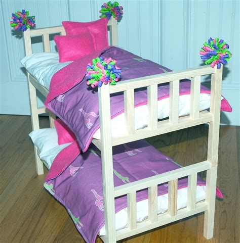 american doll bed doll bed mckenna bunk bed with gymnastics bedding by