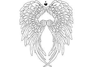 Angel Wings Heart Tattoo Drawings