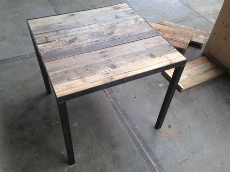 houten horeca tafels horeca tafel met sloophout blad en stalen frame en